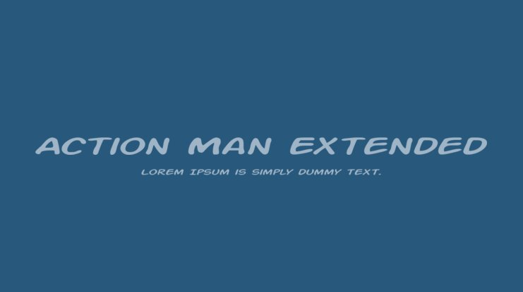 Action Man Extended Font