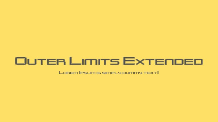 Outer Limits Extended Font Family