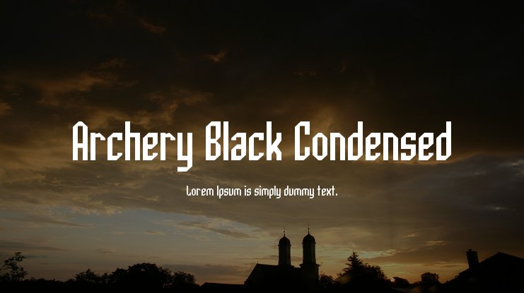 Archery Black Condensed Font Family