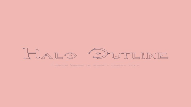 Halo Outline Font Family