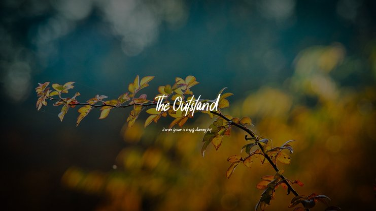 The Outstand Font