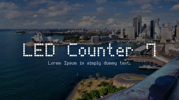 LED Counter 7 Font Family
