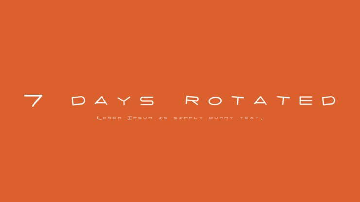 7 days rotated Font