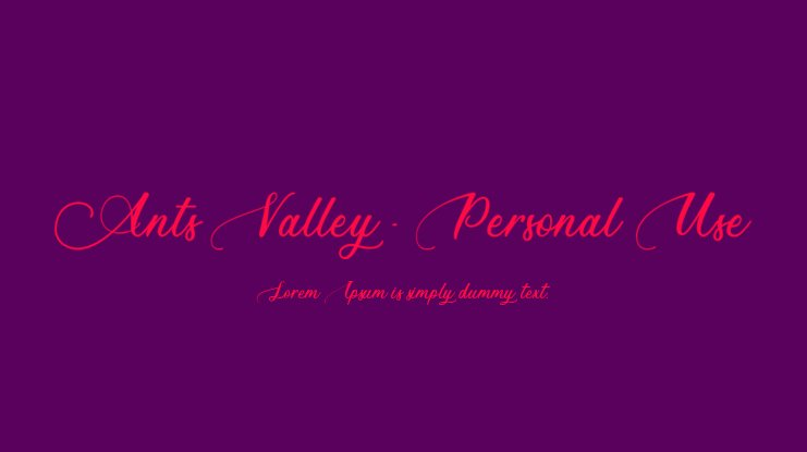 Ants Valley - Personal Use Font