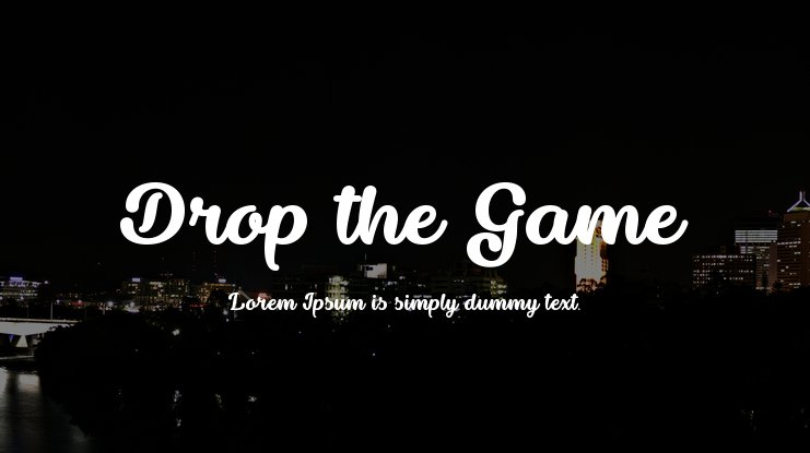 Drop the Game Font
