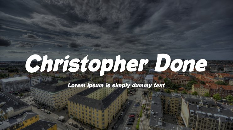 Christopher Done Font Family