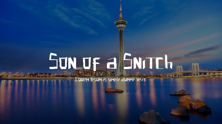Son of a Snitch Font
