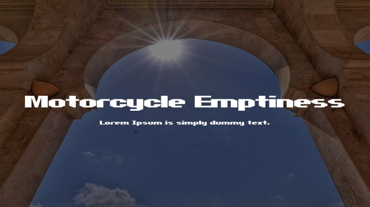 Motorcycle Emptiness Font