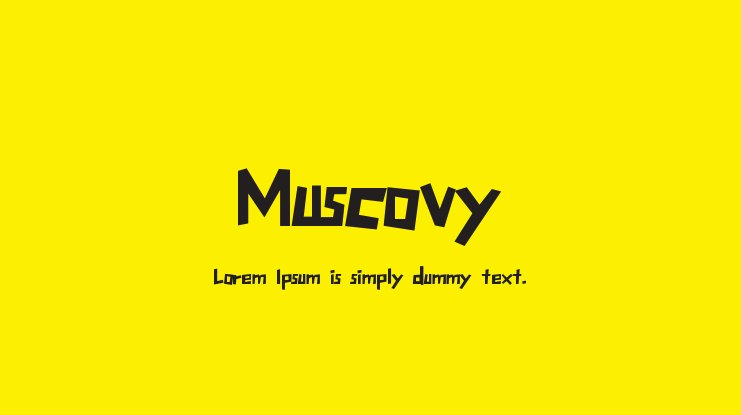 Muscovy Font