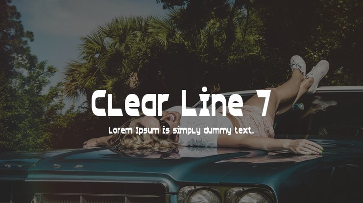 Clear Line 7 Font