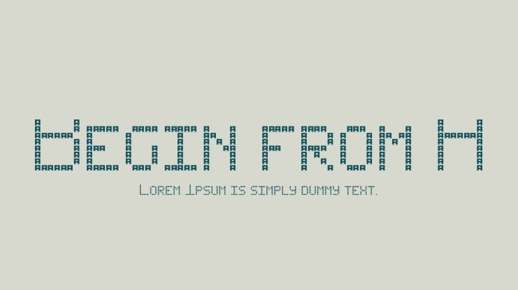 Begin from A Font