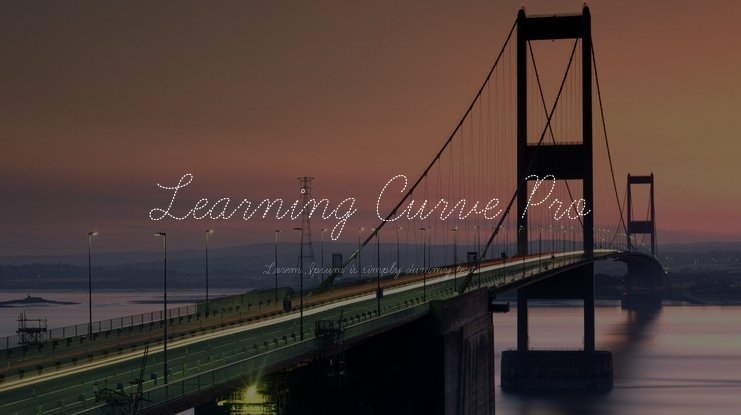 Learning Curve Pro Font Family