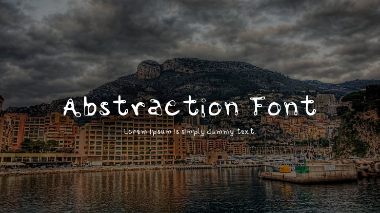 Abstraction Font