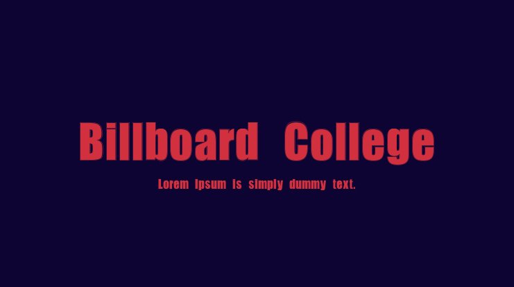 Billboard College Font Family