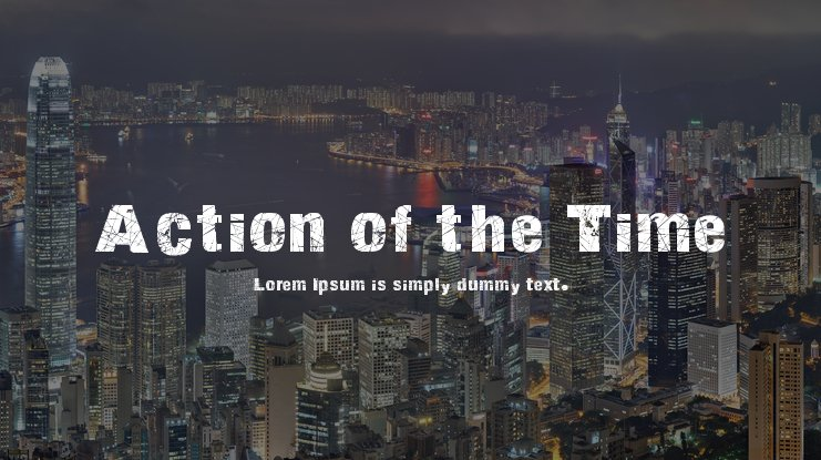 Action of the Time Font Family