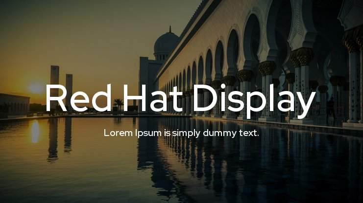 Red Hat Display Font Family