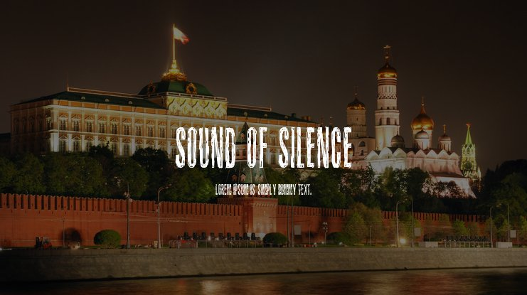 Sound of silence Font