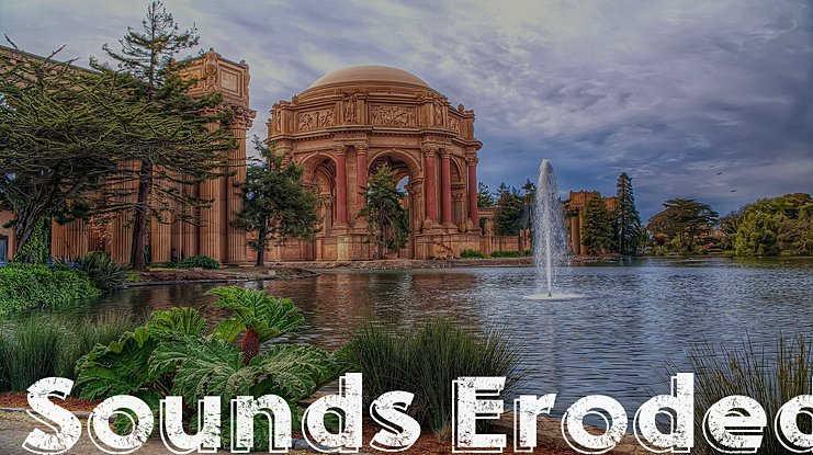 Sounds Eroded Font