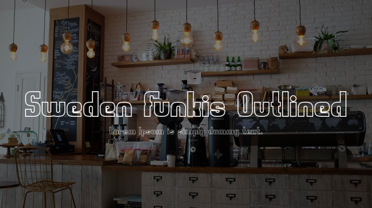 Sweden Funkis Outlined Font Family