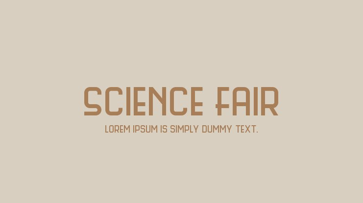 Science Fair Font Family