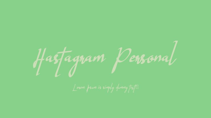 Hastagram Personal Font