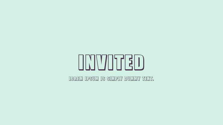 Invited Font