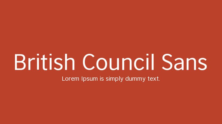 British Council Sans Font Family