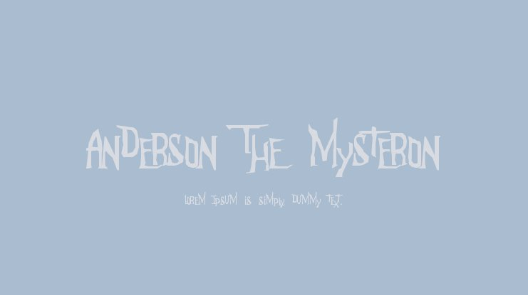 Anderson The Mysteron Font