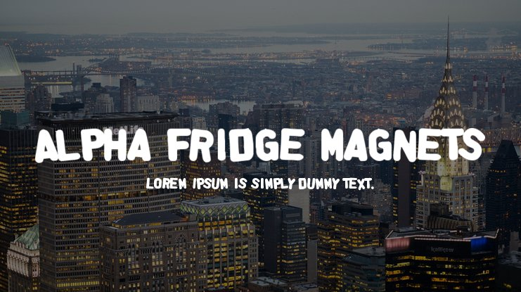 Alpha Fridge Magnets Font Family