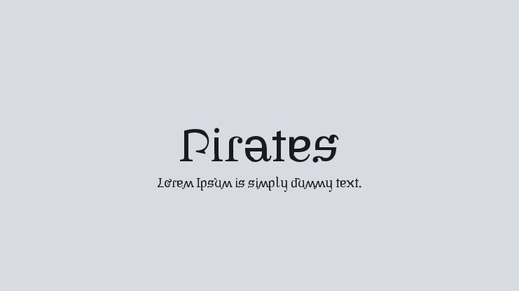 Pirates Font Family