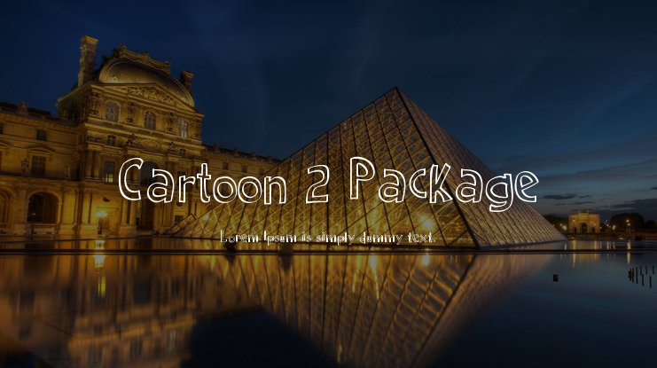 Cartoon 2 Package Font Family