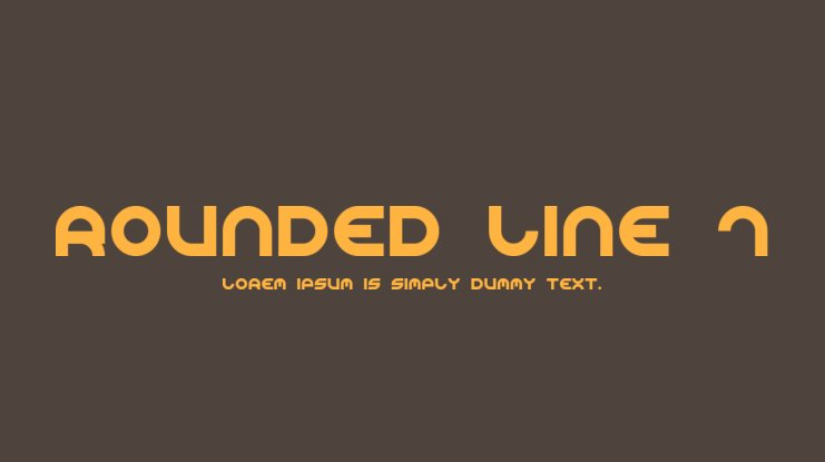 Rounded Line 7 Font