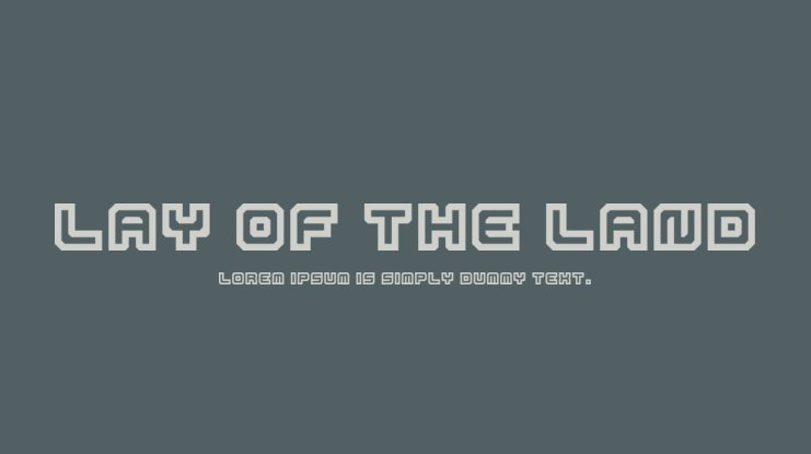 Lay Of The Land Font