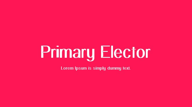 Primary Elector Font Family