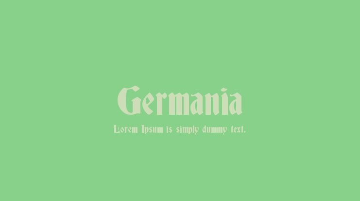 Germania Font Family
