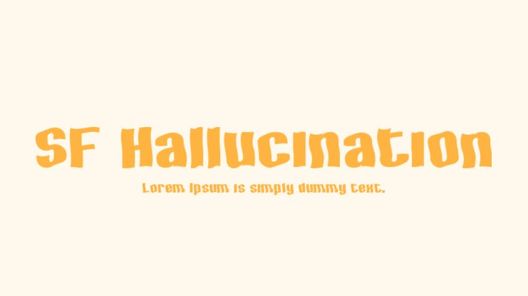 SF Hallucination Font Family