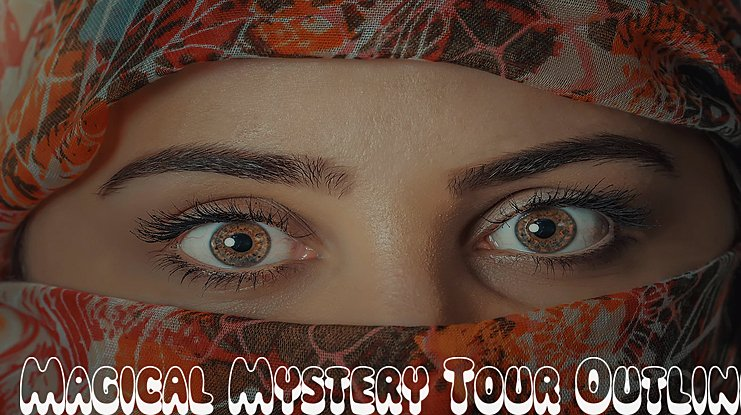 Magical Mystery Tour Outline Shadow Font Family
