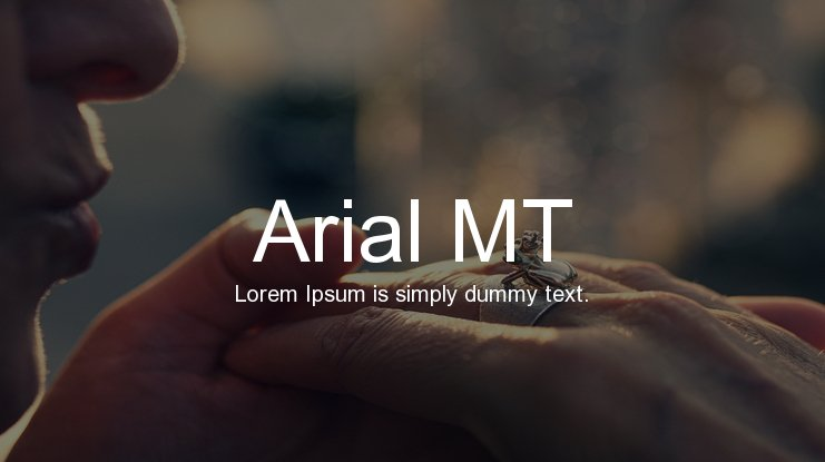 Arial MT Font Family