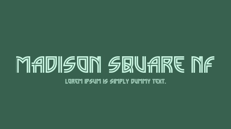 Madison Square NF Font