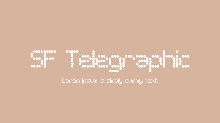 SF Telegraphic Font Family
