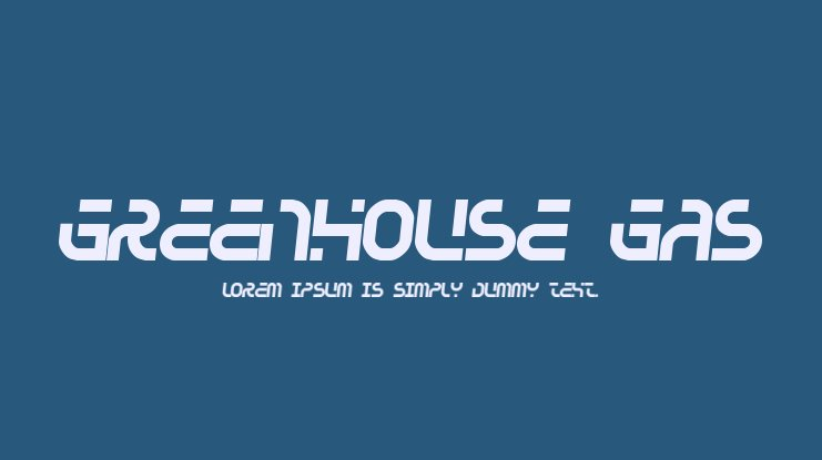 Greenhouse gas Font