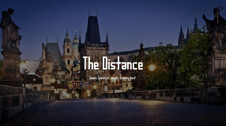 The Distance Font