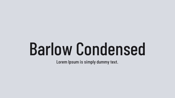 Barlow Condensed Font Family