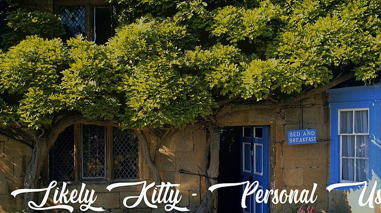 Likely Kitty - Personal Use Font