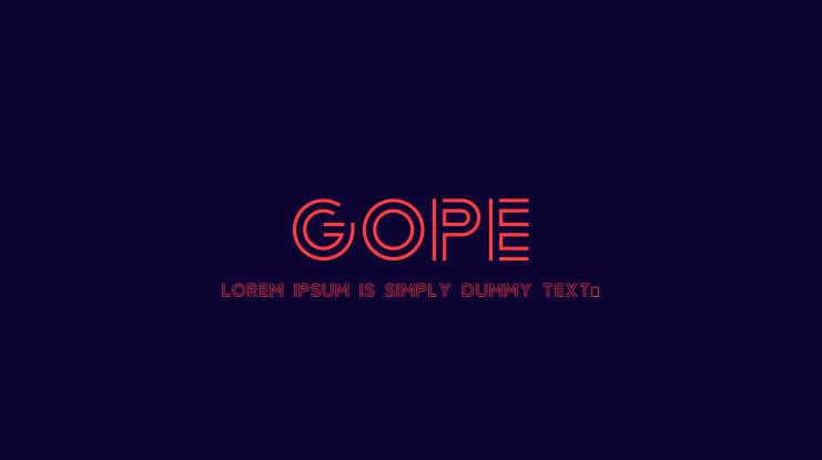 Gope Font
