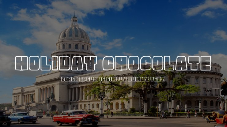 Holiday Chocolate Font Family