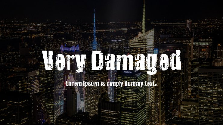Very Damaged Font Family