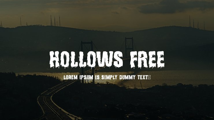 Hollows Free Font
