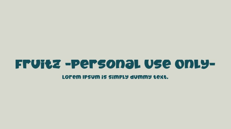 Fruitz -Personal Use Only- Font