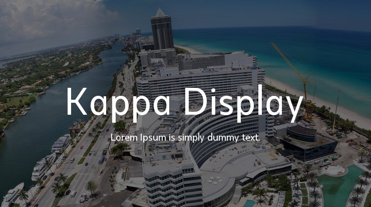 Kappa Display Font Family